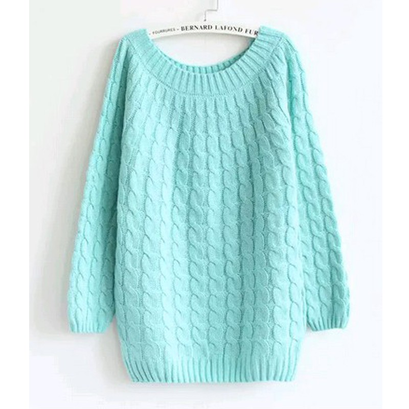 quzihua Небесно-голубой Свободный пуловер mexx джемперы свитера и пуловеры с вырезом