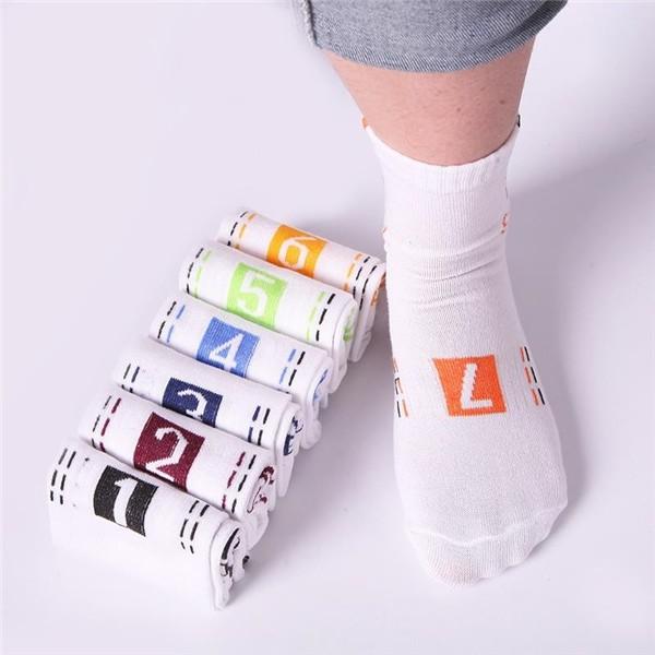 где купить Clothing Loves White 7 пар хлопчатобумажных носков дешево