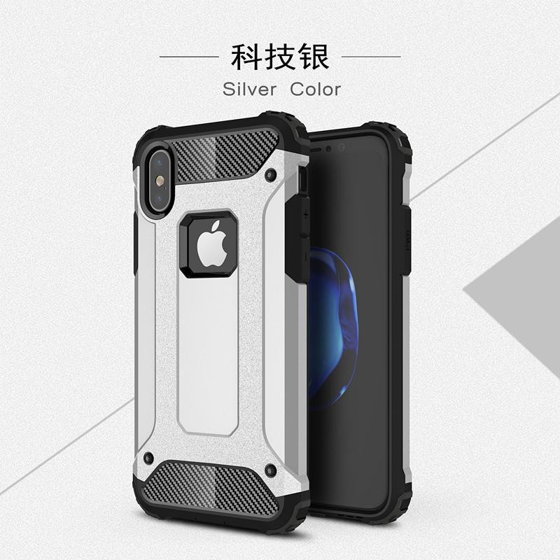 goowiiz Серебряный iphone 78 skid proof drop proof tpu bumper with pc back panel for iphone 7 black