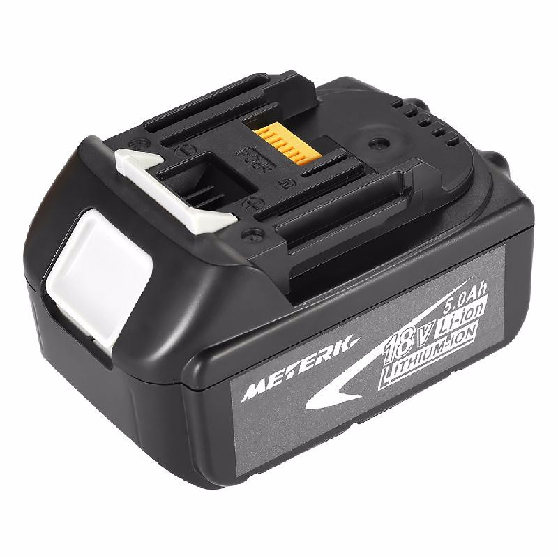meterk Black 5000mah rechargeable lithium ion replacement power tool battery packs for makita 18v bl1830 bl1840 bl1850 lxt400 194205 3 p25