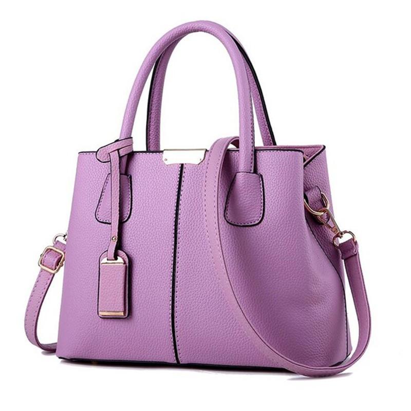 SMOOZA Пурпурный средний горячие корейской леди женщины хобо кожа pu посланника плеча сумки totes кошелек