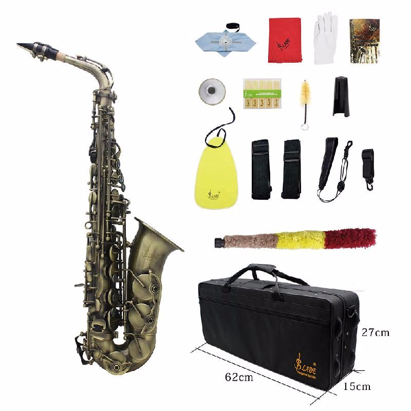 ammoon Brown original taiwan museadf t 92 professional tenor saxophone brand instrument b flat unique antique copper brass sax