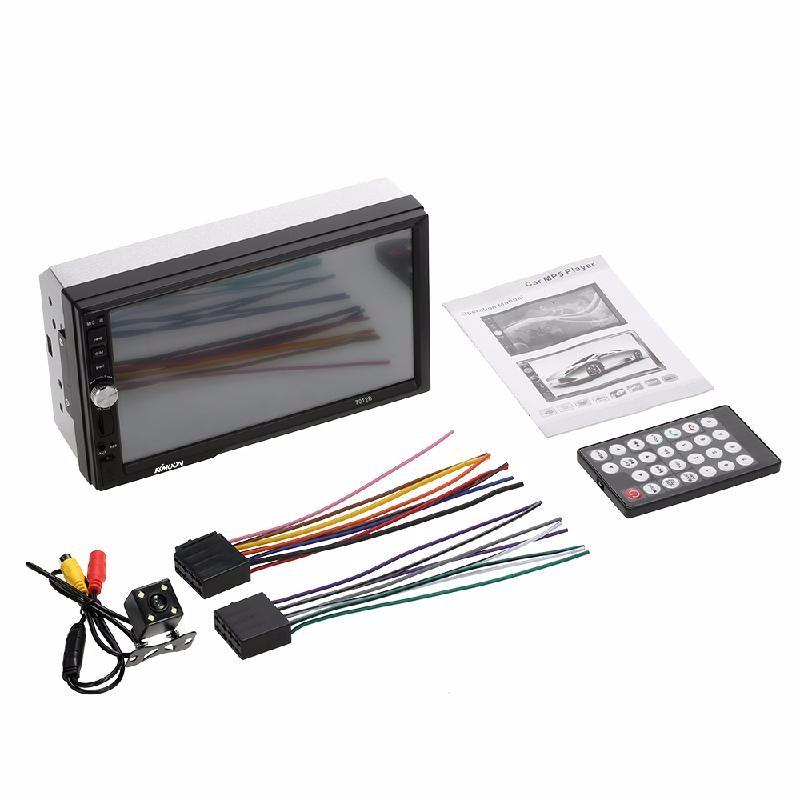 meterk Black 7 inch universal 2 din hd bluetooth car radio mp5 player multimedia radio entertainment usb tf fm aux input
