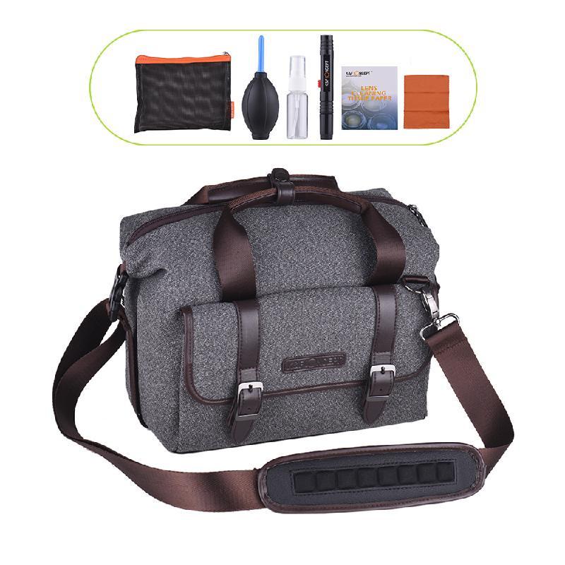 ANDOER Серый national geographic ng rf 2450 сумка для фотокамеры сумка для камеры плечо диагональ canon nikon slr sony micro цифровая фотокамера rainforest series fashion commuter
