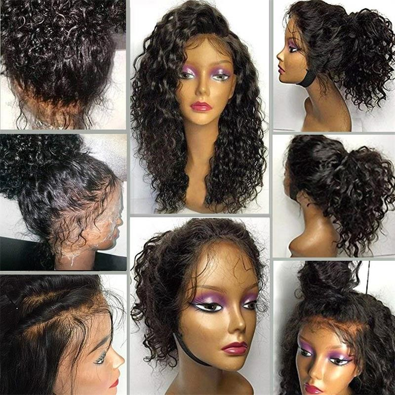 bluebell 1B 26 дюймов top grade curly human hair full lace wigs best quality brazilian virgin hair 150 density glueless lace front wig for black women