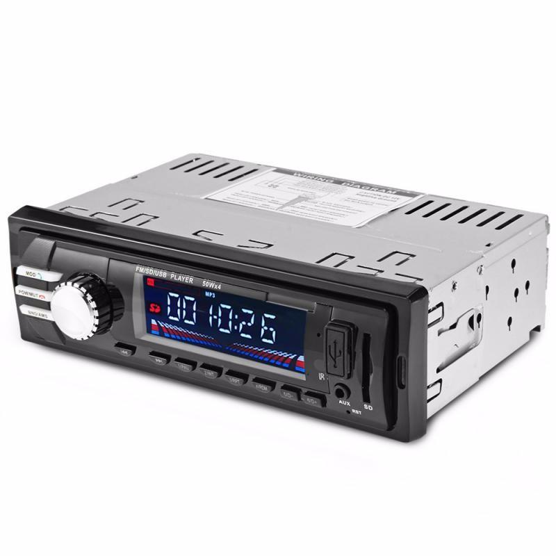 GBTIGER Black universal 1 din car radio dvd player usb sd aux in autoradio fm stereo music mp3 audio bluetooth subwoofer auto radios charging