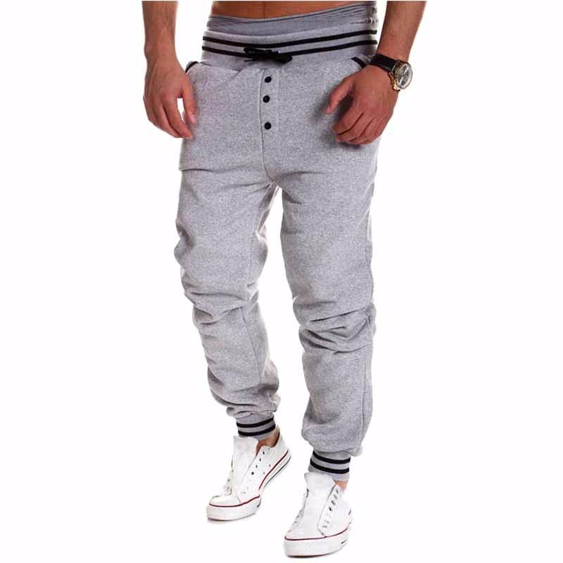 Мужская мода Твердые цветные штаны Спорта на открытом воздухе Случайные штаны-штаны-штаны Xuanxuan diary Серый XXL фото