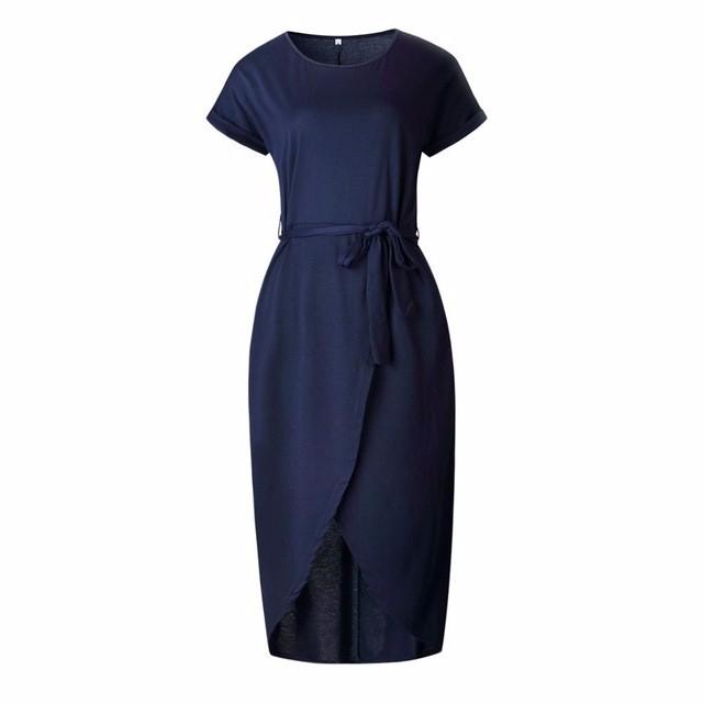 Платье длиннего платья лета платья SAKAZY Темно-синий XL фото