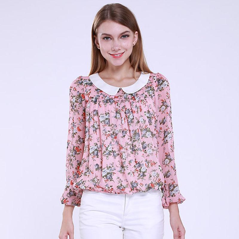 Mink Keer розовый XL йемен весна и осень рубашка женская рубашка шифон круглый воротник рубашки 8510110638 белый xl