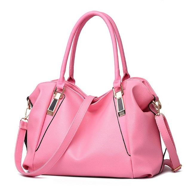 SMOOZA розовый большой горячие корейской леди женщины хобо кожа pu посланника плеча сумки totes кошелек