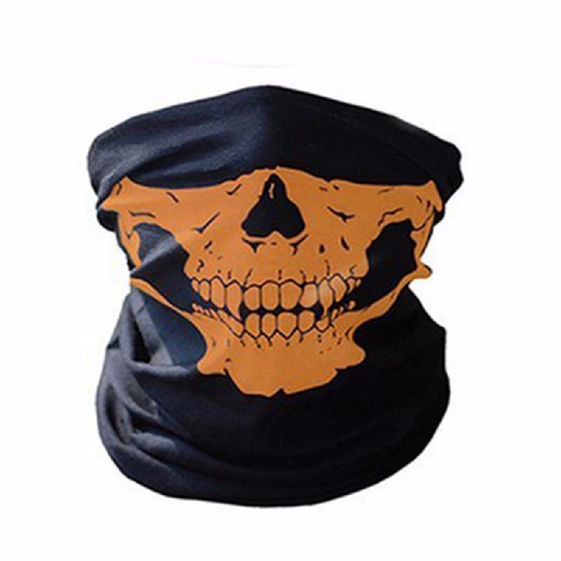 meterk оранжевый защитная маска маска бандана 2017 лето череп оголовье магия бесшовные бандана