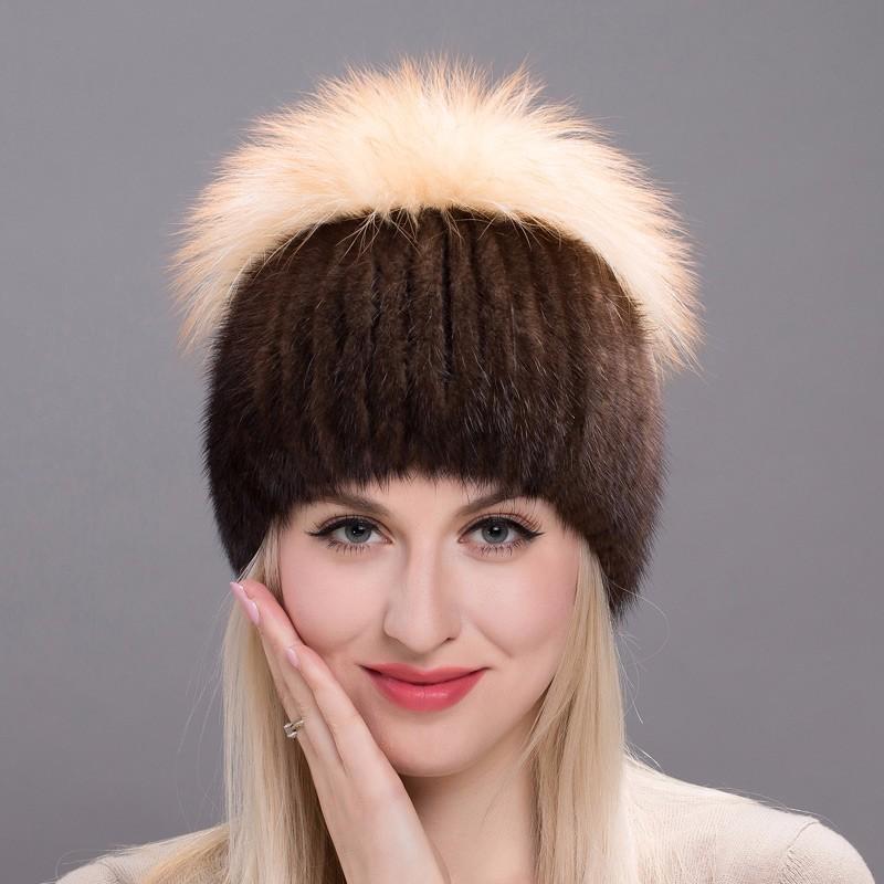FURART Коричневый Бесплатный размер шапка женская paccia цвет коричневый nr 21714 4 размер 55 58
