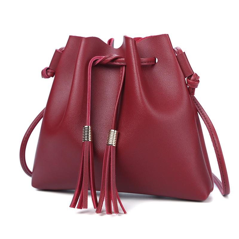 Giantex красный женщины pu кожа сумочкакожаные сумки messenge