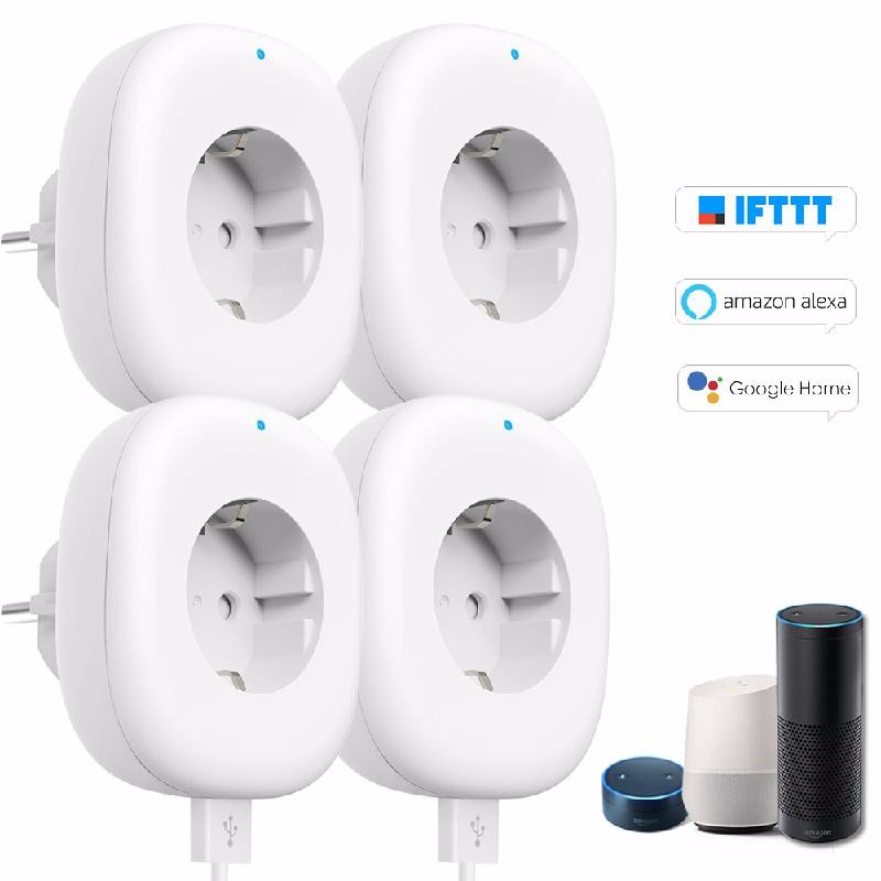koogeek White universal 10a 3w au plug smart wi fi power socket white 90 260v