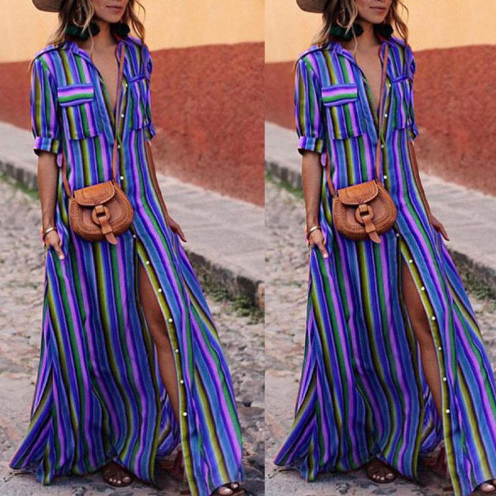 CANIS Голубое небо XL jastie embroidered women maxi dress v neck batwing sleeve loose plus size summer dresses drawstring waist boho beach vestidos