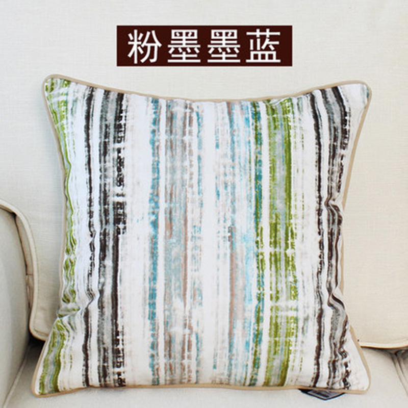 kangfeng Синий цвет подушки декоративные рюшаль подушка