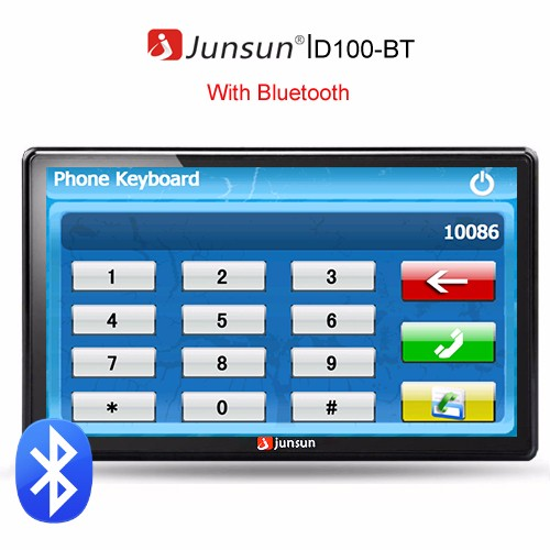 Junsun With Bluetooth gps навигатор 7 hd gps 800 nav bluetooth av fm