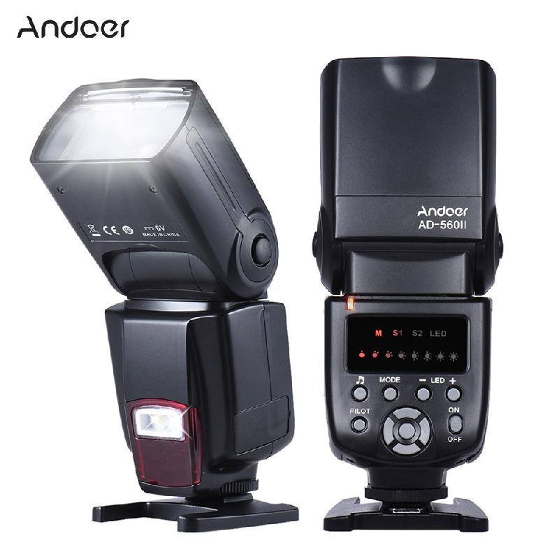 ANDOER черный neewer nw 561 lcd screen flash speedlite kit for canon nikon and other dslr cameras