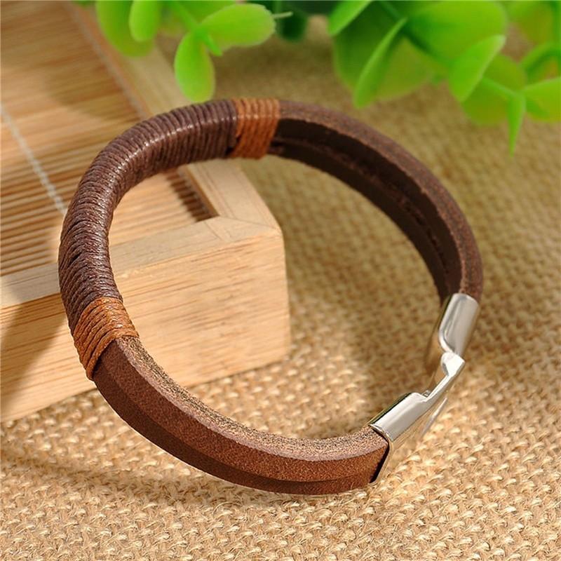 Мужские браслеты CANIS коричневый фото