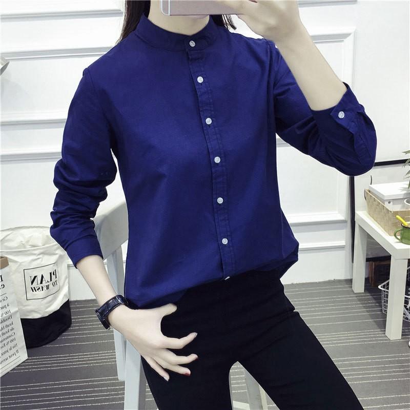Jiesenlang Темно-синий XXL bestn с длинными рукавами рубашка сплошной цвет удобная и удобная рубашка для бизнеса рубашка темно синий 56 190 108a