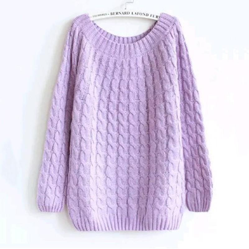 quzihua Фиолетовый Свободный пуловер mexx джемперы свитера и пуловеры с вырезом