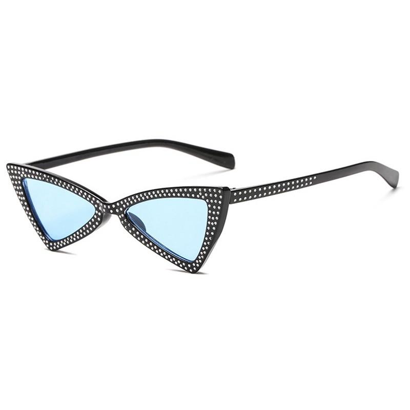 Солнцезащитные очки SHAUNA Черный Синий фото