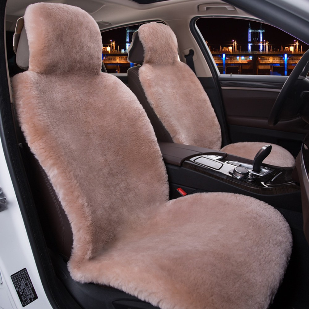 COVERS Хаки Wool Seat Cover Plush 02