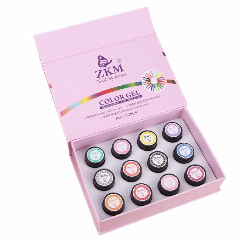 HOMEGEEK Многоцветный модные шаблоны магнит пластины жезл совет nail art для diy 3d magnetic польский