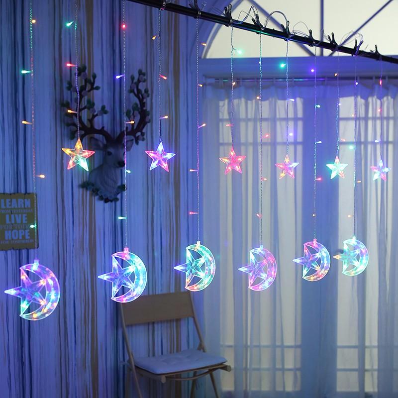 LUOMU Multi-Color 220V EU PLUG outdoor wedding christmas led bulb string light led rainbow light waterproof led string 50m 400 led ball ac 220v