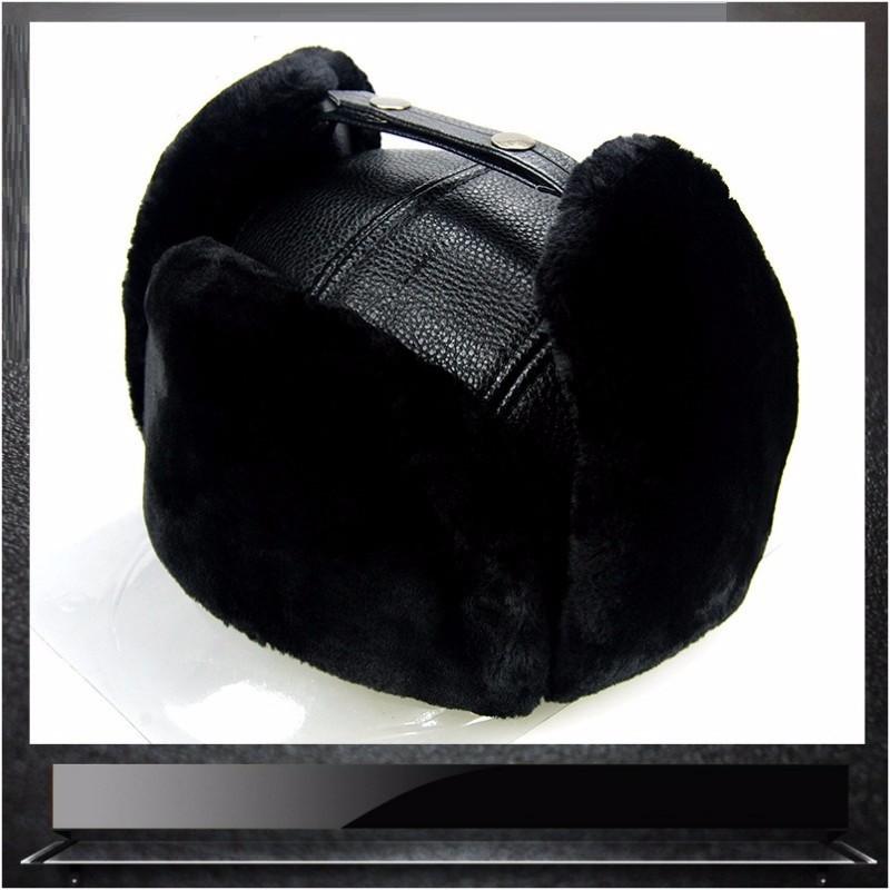 LUONIWEILIN Black Свободный размер шлем 30 х годов мех коза кофе