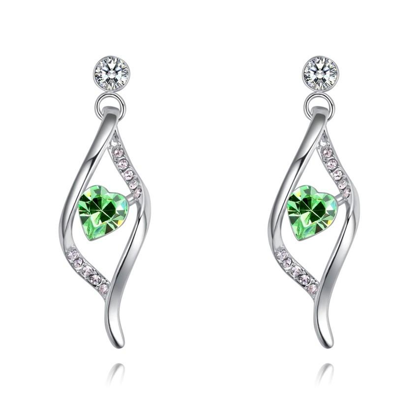 SHDEDE Зеленый серьги серьги серьги серьги серьги серьги кристалл длинные модные женские принадлежности день святого валентина подарок 28489