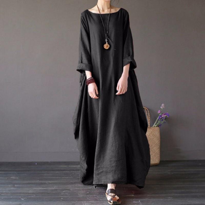 Платье платья шикарное платье женщин летнее платье SAKAZY черный 5XL фото