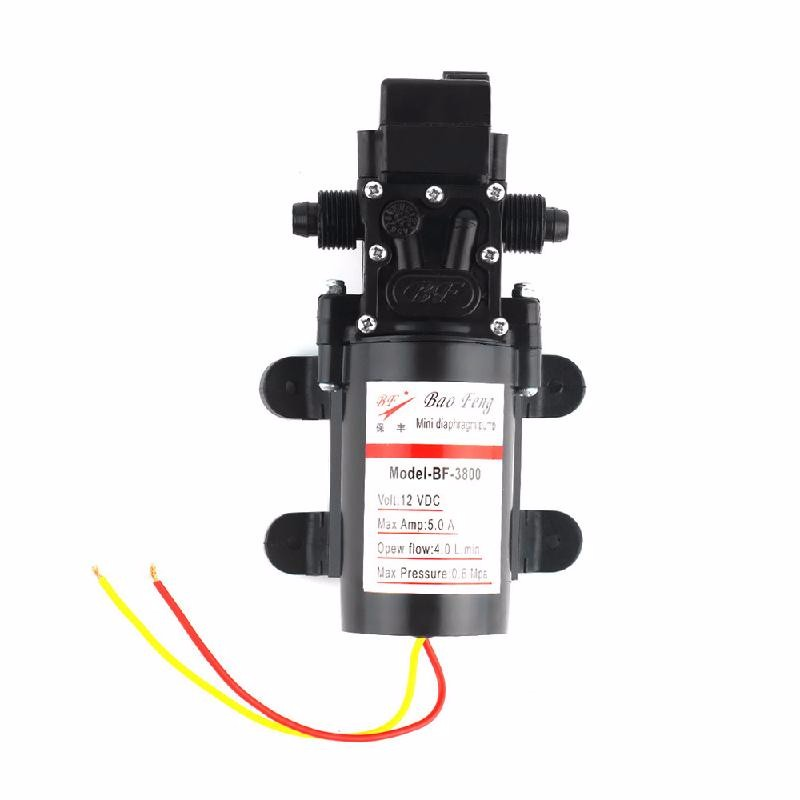 meterk Black dc 12v 80w high pressure micro diaphragm water pump diaphragm water pump automatic switch for rv boat 5 5l min