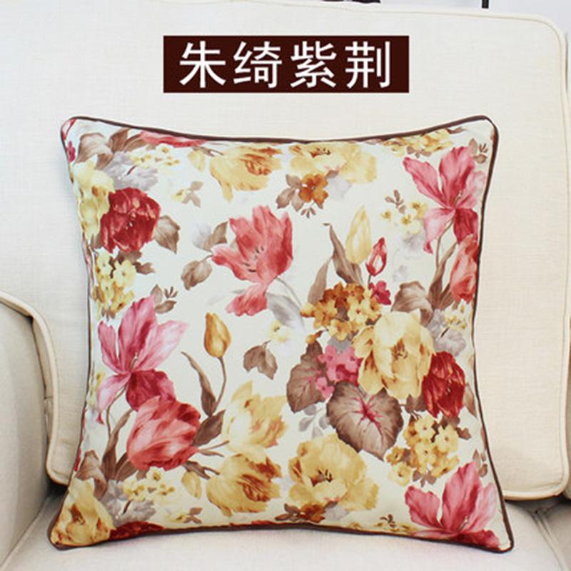 kangfeng Розовой золотой цвет подушки декоративные рюшаль подушка