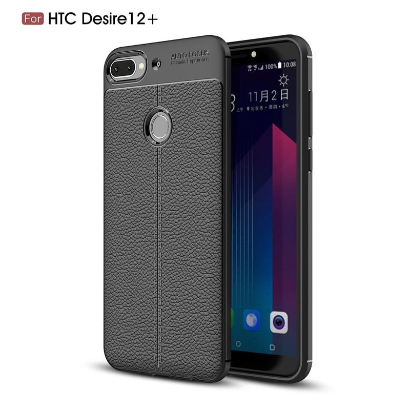 Fecoprior черный Задняя обложка для HTC Desire 12 Plus D12 Plus 12Plus Case