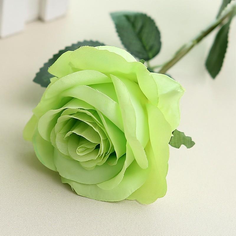 Искусственный цветок из роз цветок искусственный цветок домашнее свадебное украшение engineerin bubble wish Зеленый фото