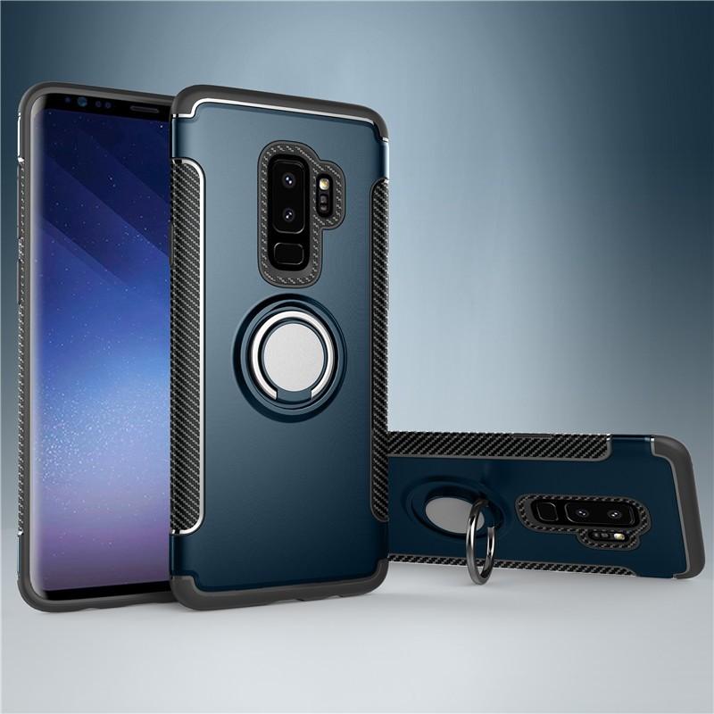 Fecoprior Purplish Blue Задняя обложка для Samsung Galaxy S9 Plus Чехол для автомобильного держателя для жестких дисков Silicon