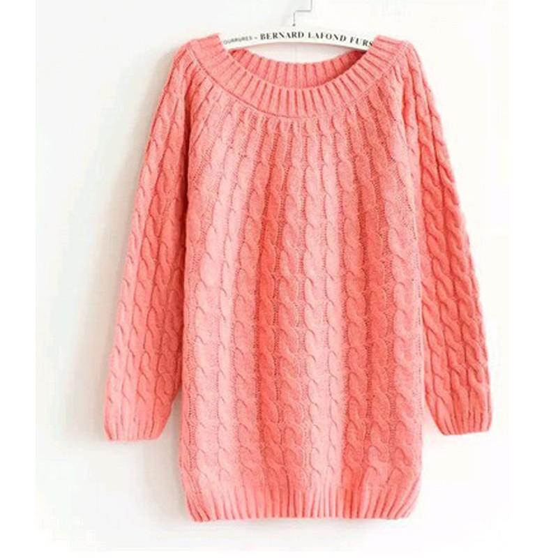 quzihua Розовый Свободный пуловер mexx джемперы свитера и пуловеры с вырезом