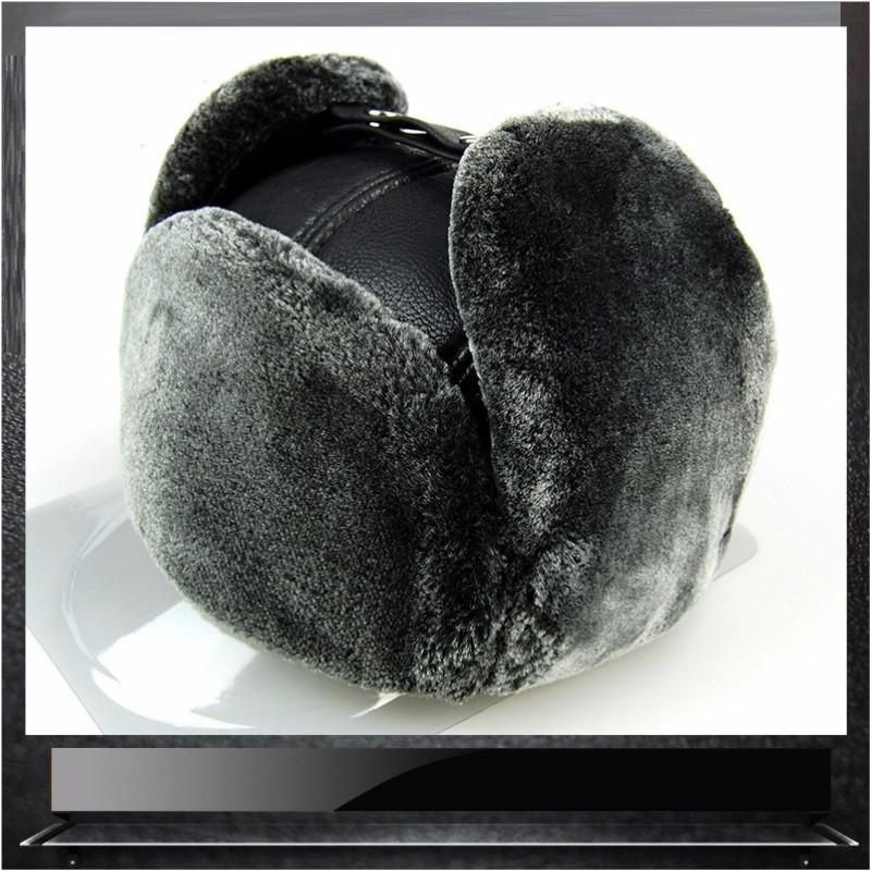 LUONIWEILIN Серый Свободный размер шлем 30 х годов мех коза кофе