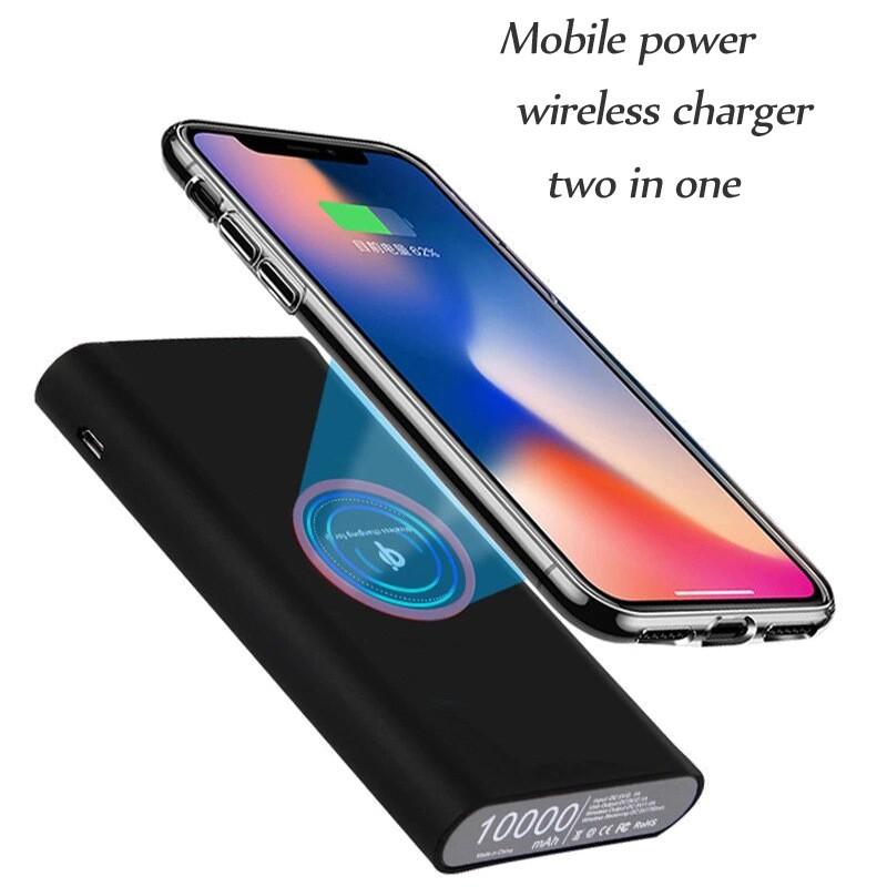 Беспроводная зарядка QI универсальная беспроводная зарядка сокровища беспроводная мобильная мощность JYSS черный фото