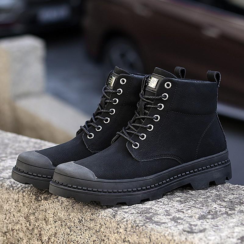 Мужчины повседневная обувь рабочая обувь сапоги мужчины luoweikedeng Black 39 фото