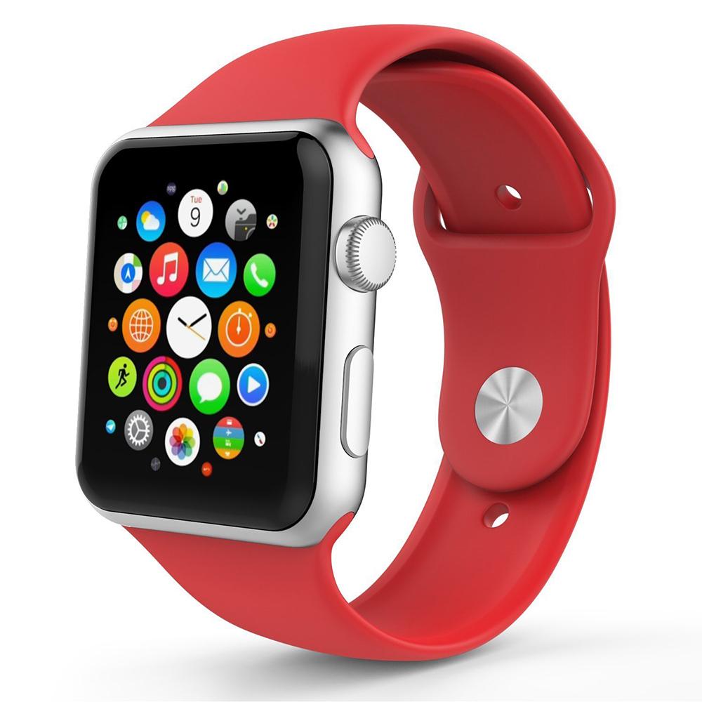 BRG Красный умные часы apple watch series 3 38mm grey space with black sport band mqkv2ru a