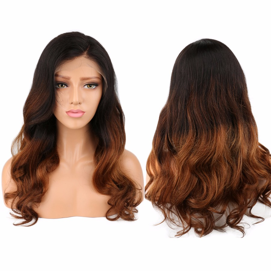 bluebell 24 дюймов unprocessed brazilian full lace human hair wigs body wave with baby hair for black women