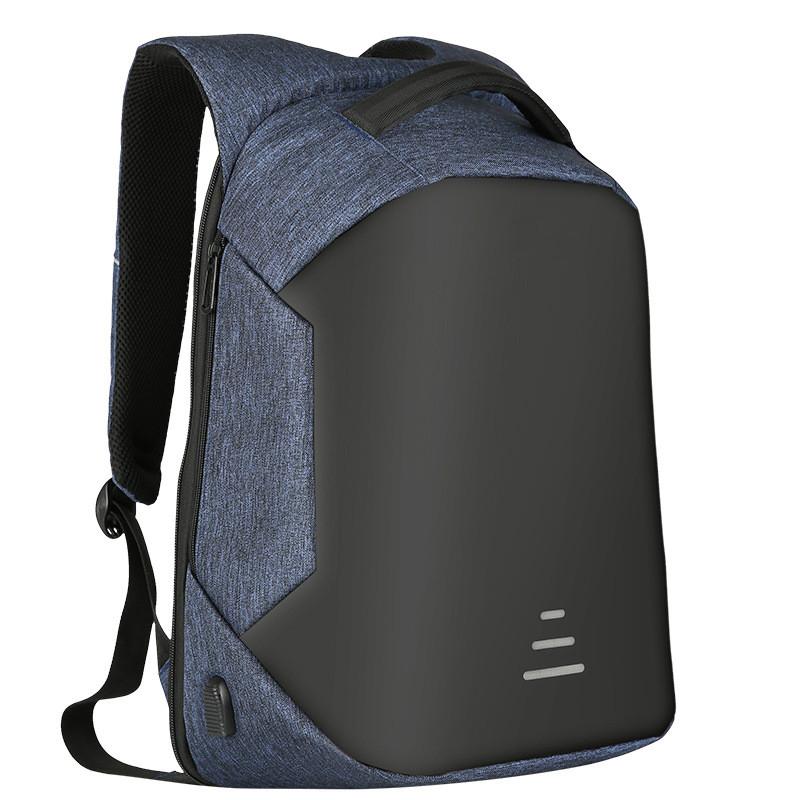 Мужские рюкзаки Противоугонные Водонепроницаемый USB Зарядка Дизайн Ноутбук Рюкзак CAROLING ANGEL Blue 32 20 49см фото