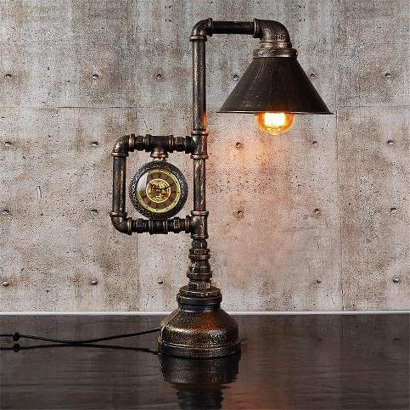Настольная лампа настольная лампа ночной свет спальня LED настольная лампа устан BAYCHEER Темно-коричневый фото