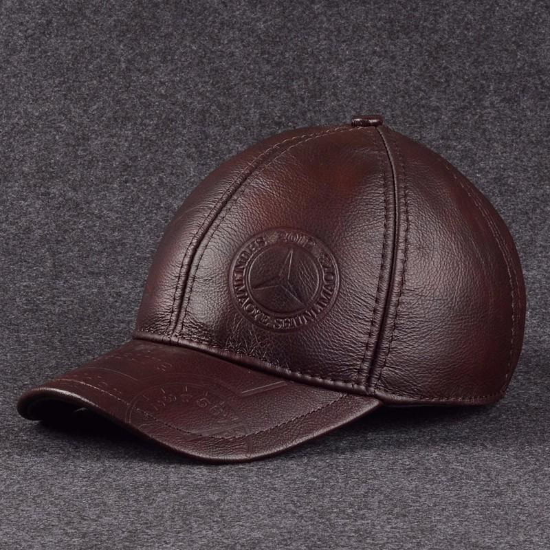 Натуральная кожаная шляпа LUONIWEILIN Красное вино Свободный размер