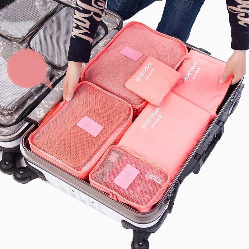 JD Коллекция 6 комплектов пакета арбузно-красный
