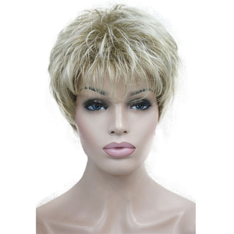 Короткие парики цвета короткие светлые парики золотистые блондинки парики каштановые парики StrongBeauty 15BT613 короткий фото
