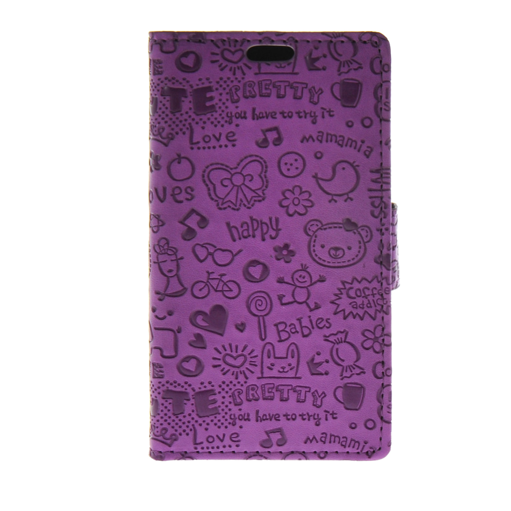 MOONCASE mooncase cute little witch leather side flip wallet card holder stand pouch чехол для lg g4 purple