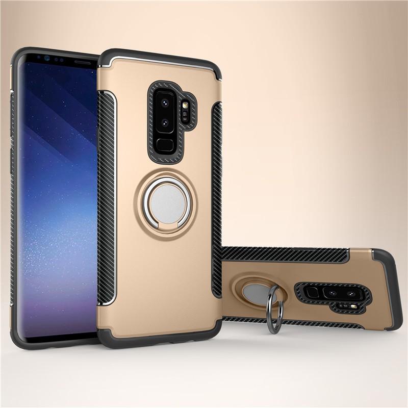 Fecoprior Золото Задняя обложка для Samsung Galaxy S9 Plus Чехол для автомобильного держателя для жестких дисков Silicon